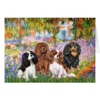 Cavaliers (4) - in Monet's Garden Greeting Card