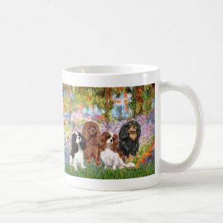 Cavaliers (4) - in Monet's Garden Coffee Mug