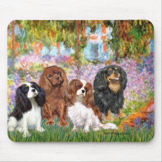 Cavaliers (4) - in Monet's Garden Mouse Pad