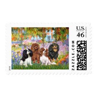 Cavaliers (4) - in Monet's Garden Stamp