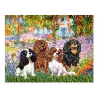 Cavaliers (4) - in Monet's Garden Postcard