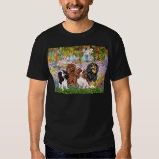 Cavaliers (4) - in Monet's Garden T Shirt