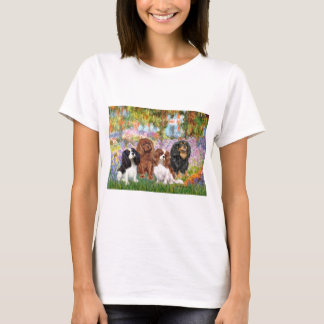 Cavaliers (4) - in Monet's Garden T-Shirt