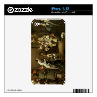 Cavaliers and Companions Carousing in a Barn Decal For The iPhone 4