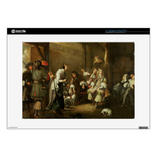 Cavaliers and Companions Carousing in a Barn Laptop Decal