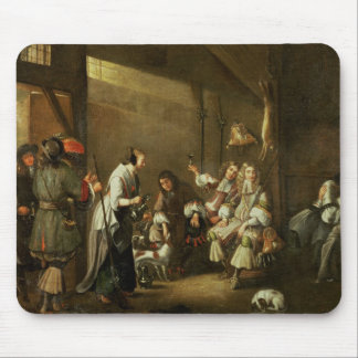 Cavaliers and Companions Carousing in a Barn Mouse Pad