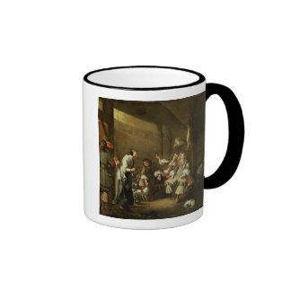 Cavaliers and Companions Carousing in a Barn Ringer Coffee Mug