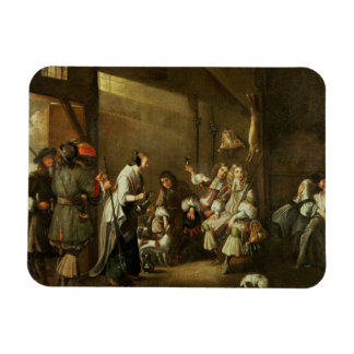 Cavaliers and Companions Carousing in a Barn Rectangular Photo Magnet