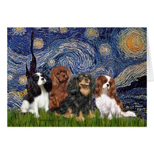 Cavaliers (four) - Starry Night Card