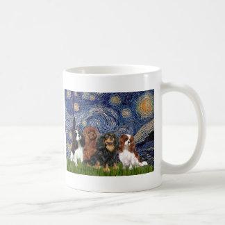 Cavaliers (four) - Starry Night Coffee Mug