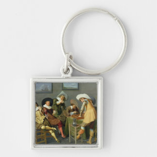 Cavaliers in a tavern keychain