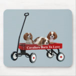 Cavaliers In Wagon Mousepad