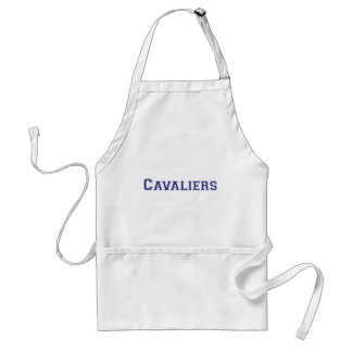 Cavaliers square logo in blue adult apron