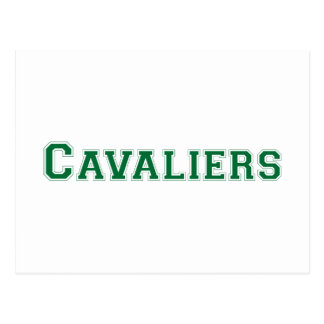 Cavaliers square logo in green postcard