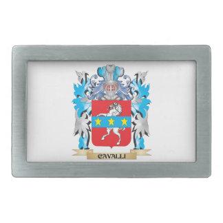 Cavalli Coat of Arms - Family Crest Rectangular Belt Buckles