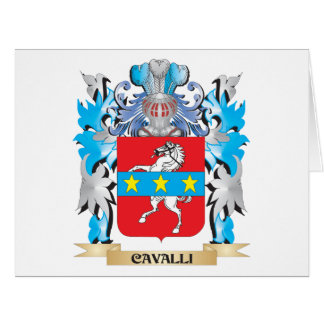 Cavalli Coat of Arms - Family Crest Greeting Card