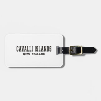 Cavalli Island New Zealand Luggage Tag