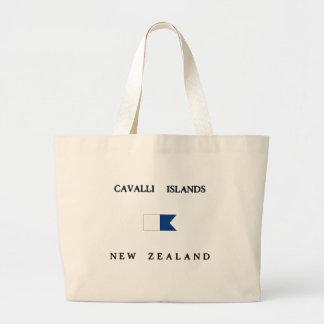 Cavalli Islands New Zealand Alpha Dive Flag Canvas Bags