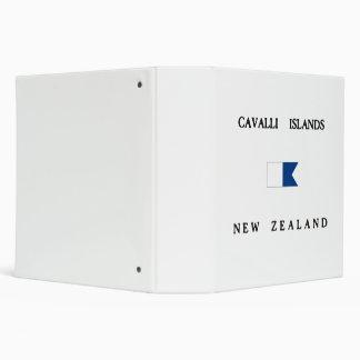 Cavalli Islands New Zealand Alpha Dive Flag 3 Ring Binders