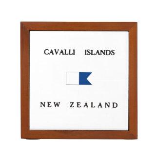Cavalli Islands New Zealand Alpha Dive Flag Pencil/Pen Holder