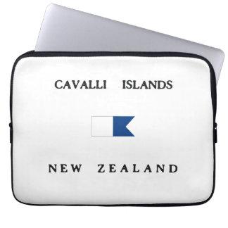 Cavalli Islands New Zealand Alpha Dive Flag Computer Sleeves