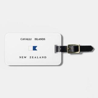 Cavalli Islands New Zealand Alpha Dive Flag Luggage Tag