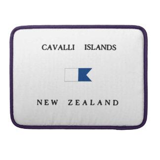 Cavalli Islands New Zealand Alpha Dive Flag Sleeves For MacBook Pro