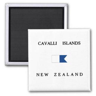 Cavalli Islands New Zealand Alpha Dive Flag Refrigerator Magnets