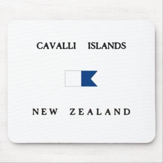 Cavalli Islands New Zealand Alpha Dive Flag Mouse Pad