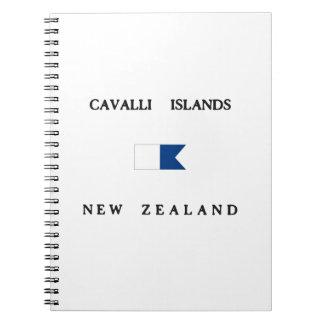 Cavalli Islands New Zealand Alpha Dive Flag Notebook