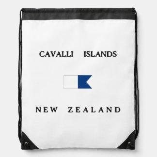 Cavalli Islands New Zealand Alpha Dive Flag Backpacks