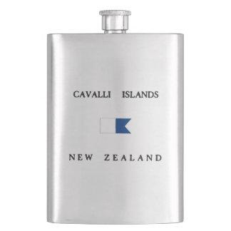 Cavalli Islands New Zealand Alpha Dive Flag Flask
