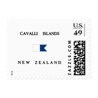 Cavalli Islands New Zealand Alpha Dive Flag Postage Stamps