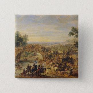 Cavalry Battle on a Bridge Button