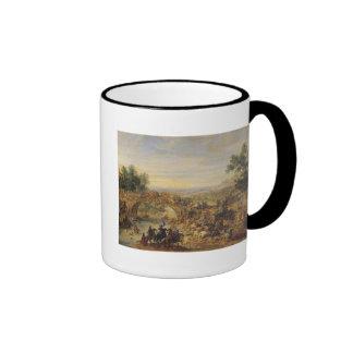 Cavalry Battle on a Bridge Ringer Mug