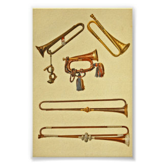 Cavalry Bugle, Cavalry Trumpet, Trumpets Poster
