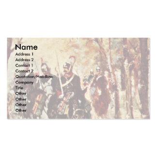 Cavalry By Fattori Giovanni Business Card