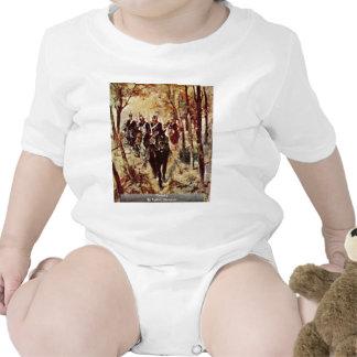 Cavalry By Fattori Giovanni Baby Bodysuits