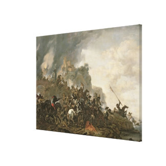 Cavalry Making a Sortie Canvas Print