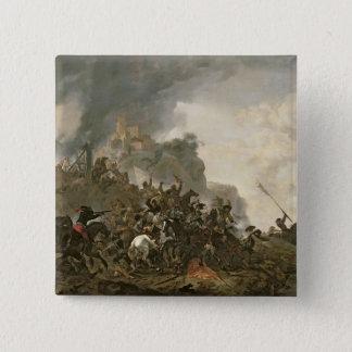 Cavalry Making a Sortie Pinback Button