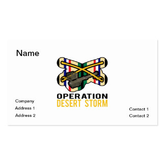 Cavalry Stinger Desert Storm Double-Sided Standard Business Cards (Pack Of 100)