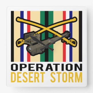 Cavalry Stinger Desert Storm Wall Clock