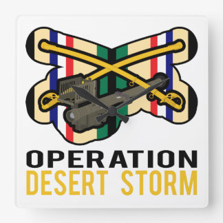 Cavalry Stinger Desert Storm Wall Clocks