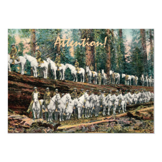 Cavalry Troop on Redwood Party Invitation