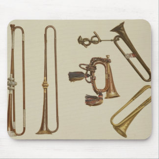 Cavalry trumpet, a bugle, a gilt trumpet made by J Mouse Pad