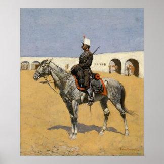 Cavalryman de la línea poster