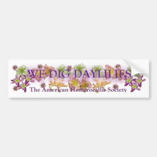Cavamos el logotipo de los Daylilies Pegatina Para Auto