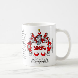 Cavanaugh, the Origin, the Meaning and the Crest Classic White Coffee Mug