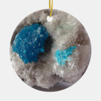 Cavansite on microstilbite ,India Ceramic Ornament