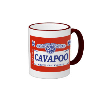 Cavapoo Ringer Coffee Mug